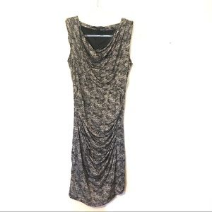 MNG by Mango black dress size large fitted.